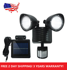A11 BLACK Solar Powered Motion Sensor light 22 LED Garage Outdoor