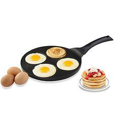 """Nonstick Pancake Pan Maker Crepe Egg Omelette Fry Pan 10.5"""" Breakfast Cookware"""