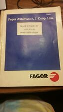 Fagor 8025/8030 CNC Programming Manual