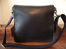 Vintage COACH black leather shoulder bag ~ made in the United States