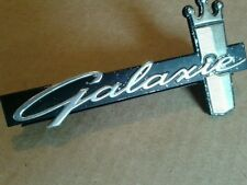 1964 FORD GALAXIE 500 ORIGINAL FRONT GRILLE EMBLEM ORNAMENT SCRIPT NICE FOMOCO