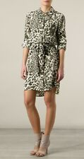 Nwt $345 Diane von Furstenberg PRITA Silk Shirt Dress Shirtdress Tunic Leopard 0