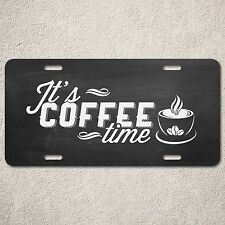 LP0188 Vintage It's COFFEE Time Sign Rustic Auto License Plate Coffee Shop Decor