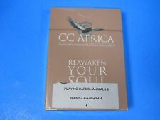 Playing Cards CC Africa REAWAKEN YOUR SOUL Animals unopen NEW Conservation Corpo