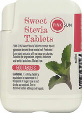 Stevia Tablets 500 Tabs Natural Sweetener Diabetic Sugar Free Powder