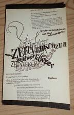 Zeitverkürzer. Deutsche Anekdoten aus fünf Jahrhunderten (Reclam 1970)