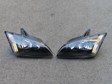 Black Headlights Head Lamps Pair for Ford Focus 2005-2007