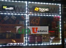 20ft STOREFRONT BUSINESS WINDOW LED LIGHT WHITE w/ Remote & UL Listed Power U.S
