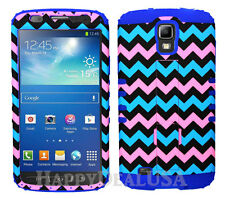 KoolKase Hybrid Cover Case for Samsung Galaxy S4 Active - Chevron Wave 29