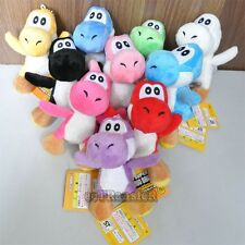 "New Super Mario Bros Lot 10 Pcs 4.5"" Yoshi (10 Color) Plush Toy Doll/MW125"