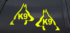 FLUORESCENT K9 VEHICLE STICKER DECALS          zk96