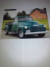 1949 Chevrolet 3/4 Ton 3600 Pickup Truck Picture Poster from an unused Calendar