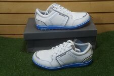 NEW Ashworth Cardiff ADC Men's 10M Golf Shoes White/Blue/Gray 216576