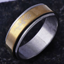 Ancient Mens lucky Band promise Ring stainless steel Size 11#