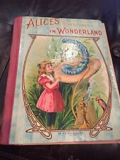 Vintage Alice's Adventures In Wonderland Lewis Carroll Illustrated Donohue Book