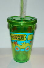 Scooby Doo Mystery Machine Van 16 oz Acrylic Travel Mug Cup and Straw NEW UNUSED