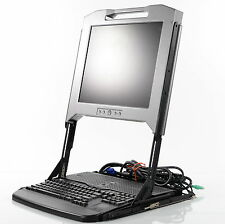 "Dell 17"" Server Terminal 8V7WD with Rails"
