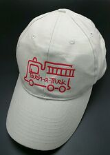 TOUCH-A-TRUCK beige adjustable baseball style cap / hat
