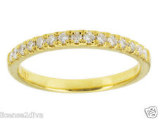 14K YELLOW GOLD OVER STERLING MOISSANITE WEDDING OR STACK BAND RING SIZE 6! NEW