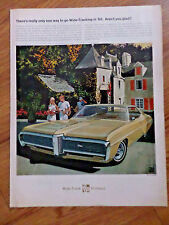 1968 Pontiac Grand Prix Ad Only 1 Way to go Wide-Tracking Tennis     AF/VK