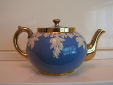 Vintage Gibsons Staffordshire England Bone China Teapot Dark Blue