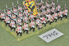 25mm seven years war austrian infantry 32 figures (7405) painted metal