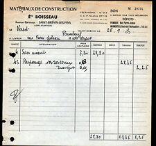 """SAINT-BREVIN-les-PINS & PAIMBOEUF (44) MATERIAUX de CONSTRUCTION """"Ets BOISSEAU"""""""