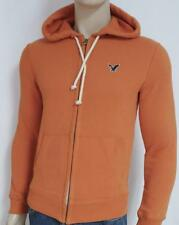 American Eagle Outfitters Orange Icon Fleece Hoodie Sweatshirt New NWT Mens XS