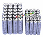 24 AA 3000mAh + 24 AAA 1800mAh 1.2V NI-MH Rechargeable Battery 2A 3A Grey Cell
