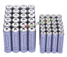 24x 3000mAh AA + 24x AAA 1800mAh 1.2V NI-MH recargables batería 2A 3A color Gris