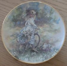 The Leonardo Collection Collectors Plate BICYCLE RIDE By Christine Haworth