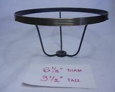 """6-1/8"""" METAL SHADE HOLDER for OIL ELECTR TABLE or HANGING LAMP SCONCE 3-1/2""""H"""