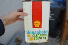 Vintage Shell Oil Can Advertising Sign Cleaning Solvent House Canadian Tin Decor