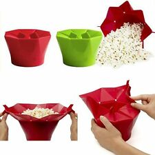 SILICONE IDEAL MICROWAVE MAGIC POPCORN MAKER CONTAINER KITCHEN COOKING TOOL NEW