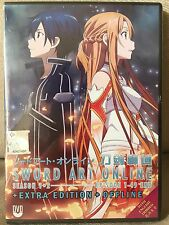 DVD Sword Art Online Season 1+2 Eps 1-49END+extra Edition+offline..English Dub