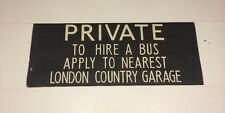 "Windsor Bus Blind 1973 33""- Private To Hire A Bus Apply To London Country Garage"