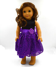 hotsell Handmade cute clothes dress for 18inch American girl doll party b16