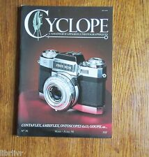 Collection Appareil  photo REVUE CYCLOPE n°36 Contaflex Ambiflex Ontoscopes 6x13