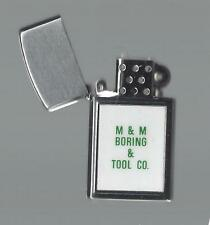 Vintage Slim Lighter Advertising M & M Boring & Tool Co. Working Condition