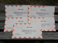 5 VINTAGE TEXACO FIRST CLASS MAILING ENVELOPES BELLAIRE TEXAS