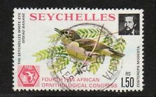 SEYCHELLES 1976 1R50 BROWN WHITE EYE BIRD Fine Used