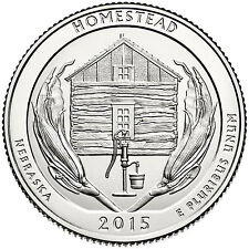 2015 - P Homestead  Monument of America National Park, Quarter Roll-UNSEARCHED