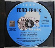 1957 Ford Truck Shop Manual (CD-ROM)