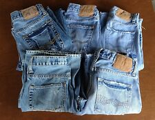 Lot of 5 Pair American Eagle 26/28 Distressed Vintage Blue Jeans