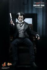 New Sealed in Brown Box Hot Toys Sideshow Sweeney Todd Johnny Depp Action Figure