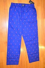 Men's Polo Ralph Lauren Sleepwear Blue Pajamas Pants Size: X-Large New With Tag!