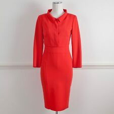 ANTONIO BERARDI Coral Wool Two Piece Dress Cropped Jacket Suit It 40/42 UK 8/10