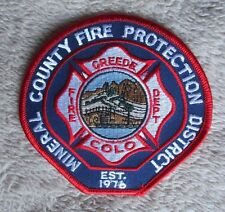 Mineral County Fire Protection District Patch - Greede Fire Dept ,Colorado