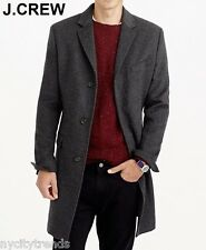 New J.CREW 42R Ludlow wool-cashmere coat topcoat overcoat grey gray L 42 R NWT