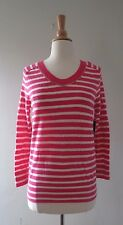 JUICY COUTURE Angel Stripe  Chain Pullover Wool/cotton S